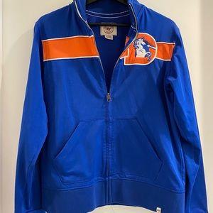 Vintage broncos athletic zip up